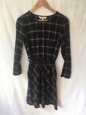 NEW People Tree Size UK 8 'Rosalyn' Blue Checked Dress Long Sleeved