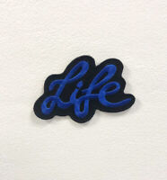 Life Art Blue Badge Clothes Iron on Sew on Embroidered Patch appliqué