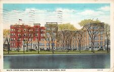Columbus Ohio 1931 Postcard White Cross Hospital and Goodale Park