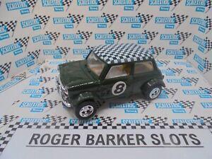 "Scalextric Mini ""Toys R Us"" C0076  Mini Cooper green #8  chequered roof  Exc"