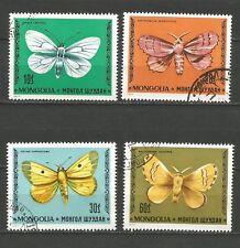 Mongolie 1977 papillon 4 timbres oblitérés /T5433