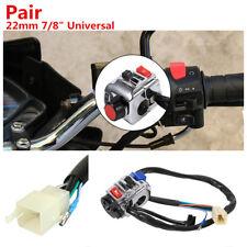 2x Motorcycle Handlebar Control Horn Turn Signal Light Start Switch For Honda