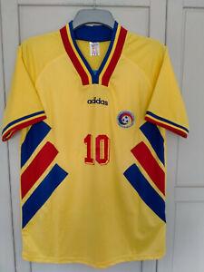 Romania 1994 Hagi #10 Home Football Shirt 94 WORLD CUP USA SIZE LARGE