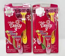 Gillette Daisy 3 Women's Disposable Razors 4 pack -Lot of 2 (8 Razors)