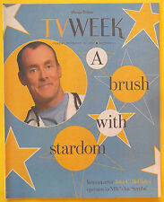 John C. McGinley SCRUBS Chicago Tribune TV Week guide Dec 16 2001 Santa Baby ad