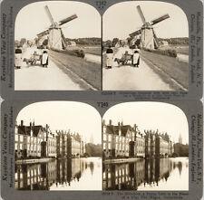 18 STEREOFOTOS NIEDERLANDE HOLLAND UM 1900 SERIE 2