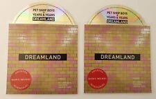 "PET SHOP BOYS & YEARS & YEARS ""DREAMLAND"" SET OF BOTH 5 & 11 REMIX CD PROMO S"