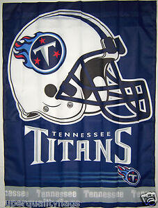 27X37 NEW TENNESSEE TITANS BANNER WITH FLAG POLE SLEEVE MADE USA