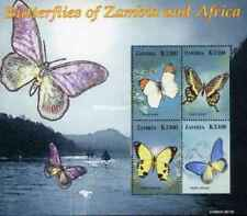 Timbres Papillons Zambie 1307/10 ** année 2005 lot 24771