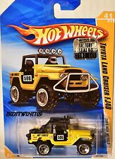 HOT WHEELS 2010 NEW MODELS TOYOTA LAND CRUISER FJ40 YELLOW FACTORY SEALED W+