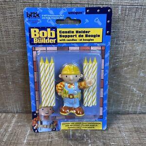 NOS Vintage Bob the Builder Birthday Candle Holder SEALED