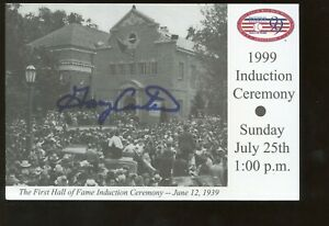 1999 BB Hall of Fame Induction Day 4 X 6 Postcard Autographed Gary Carter