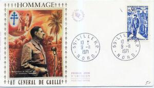 FRANCE 1696 1er JOUR, DE GAULLE en AFRIQUE. TRES BEAU.