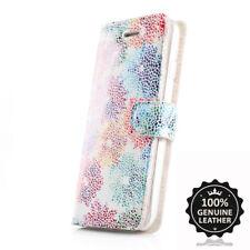 SURAZO Echtes Ledertasche Hülle Handy Wallet Case Cover - Blumen Leder