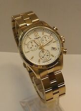 Men's Timex Ameritus Gold Tone Stainless Steel Chronograph Indiglo Watch