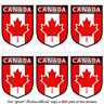"""CANADA Canadian Shield 1.6"""" (40mm) Mobile Cell Phone Mini Stickers-Decals x6"""