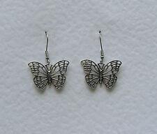 Farfalla in filigrana d'argento placcata orecchini 1.25 in (ca. 3.17 cm) in 3.5 cm