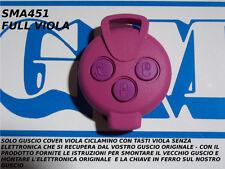 COVER VIOLA CICLAMINO E TASTI VIOLA PER CHIAVE TELECOMANDO SMART MHD FORTWO 451