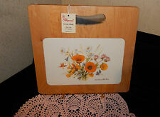 PIMPERNEL NEW NORTH AMERICAN WILD FLOWERS CUTTING BOARD WOOD TILE CERAMIC SEALED