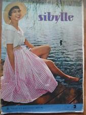 SIBYLLE 3 - 1957 Mode-Zeitschrift Sommermode Strandkleider Nachtwäsche DDR Vogue