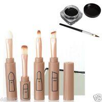 Portable Makeup Brush Sets Eyeshadow Eyeliner Lip Brushes+Eyeliner Gel Cream New