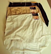 3 Bali  Skimp Skamp Briefs size 7 Style 2633 Black White Nude