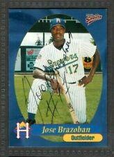 1999 Multi-Ad #12 Jose Brazoban Helena Brewers Baseball Signed Autograph (B45)