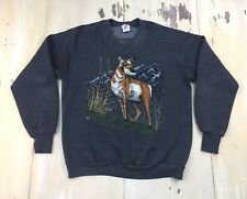Antelope Sweatshirt - Vtg 1990s Dark Gray Mountain Jerzees Raglan, Adult Large
