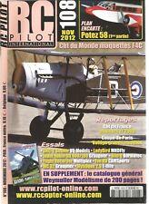 "RC PILOT N°108 PLAN : ""POTEZ 58"" (1) / DHC-2 BEAVER / LADYBIRD / JODEL ROBIN DR"