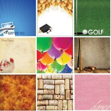 "186 Scrapbook Papers VARIETY Reminisce double-sided 12x12"" cardstock U-CHOOSE"