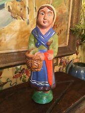 Antique French Papier-mâché Doll Quimper Region Hand Painted