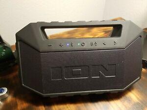 ION Audio - Aquaboom Max Portable Bluetooth Boombox Speaker - Black
