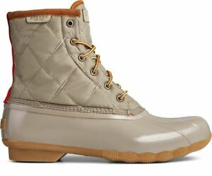 {STS23074} Men Sperry Saltwater Nylon Rain & Duck Boots - Taupe *NEW*