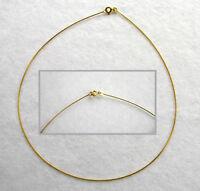 ECHT GOLD *** Omega-Reif Halsreif Kette Collier 45 cm
