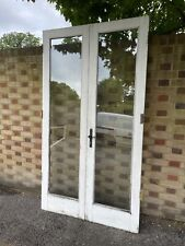 Reclaimed French Double Glazed Wooden Inter-locking Double Doors 2186 x 1210mm