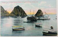 Vintage Catalina Island California CA Sugar Loaf & Glass Bottom Boats Postcard