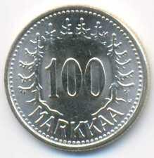 Finland Silver 100 Markkaa 1957 UNC