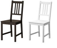 STEFAN Dining Chair, white, Brown-Black, Solid Pine wood chairs,Multipurpose use