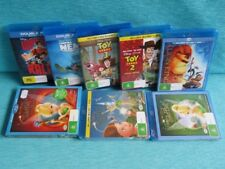 8 x DISNEY BLU RAY LION KING TINKER BELL TOY STORY FINDING NEMO WRECK IT FAIRY