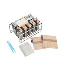 10Pcs Stainless Steel Molds Frozen Ice Cream Pop Popsicle Holder Maker +Sticks