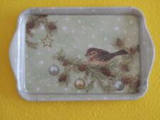 Ambiente 1x Tablett VOGEL Weihnachten Vögel SEASONS Sterne Melamin 13 x 21 Tiere