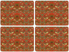 NEW Set of 4 Dining Table Placemats and Coasters Strawberry Thief
