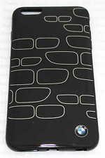 Original BMW TPU Duro CaseCover Funda iPhone 6 Plus 6S Plus negro plata