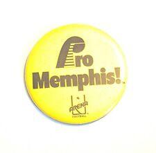 """Pro Memphis! Arena Football"" * Vintage 3"" Pin Pinback * Combine Shipping!"