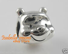 Disney WINNIE THE POOH 100% Authentic PANDORA Silver PORTRAIT Charm/Bead NEW