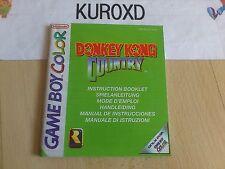 MANUAL NINTENDO GAME BOY COLOR GBC DONKEY KONG COUNTRY PAL EUROPA