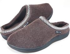 Men's Memory Foam Slippers Comfortable Polar Fleece Lined Brown House Shoes