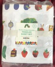 Pottery Barn Kids The Very Hungry Caterpillar Toddler Sheet Set NLA NWT
