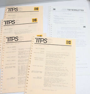Kodak TIPS Tech Info Photo Systems Vol 4 No 1 2* 3 4 + 1973 English - USED B113C