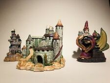 VINTAGE SPOONTIQUES FIGURES LOT OF 3 FREE SHIPPING WIZARD CASTLE DRAGON